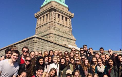 Danish Students Arrive at East